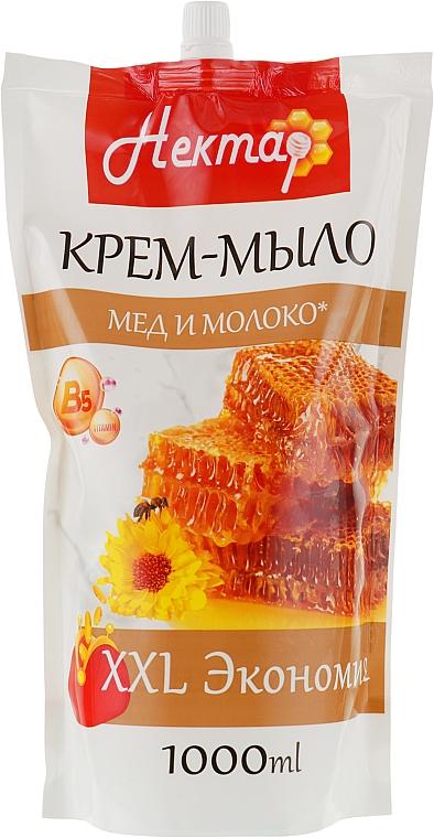 """Жидкое крем-мыло """"Нектар. Мед с молоком"""" - Aqua Cosmetics (дой-пак)"""