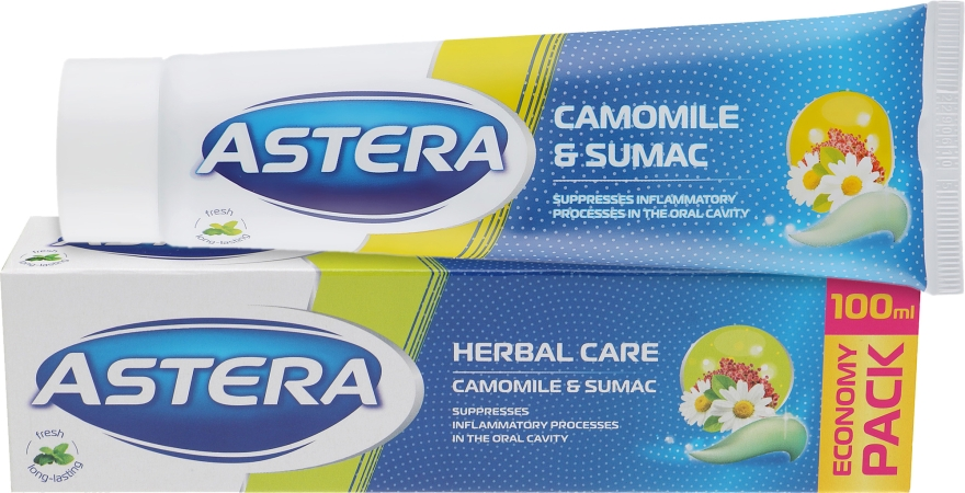 "Зубная паста ""Ромашка и сумак"" - Astera Camomile And Sumac"