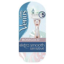 Духи, Парфюмерия, косметика Бритва с 1 сменной кассетой - Gillette Venus RoseGold Extra Smooth Sensitive