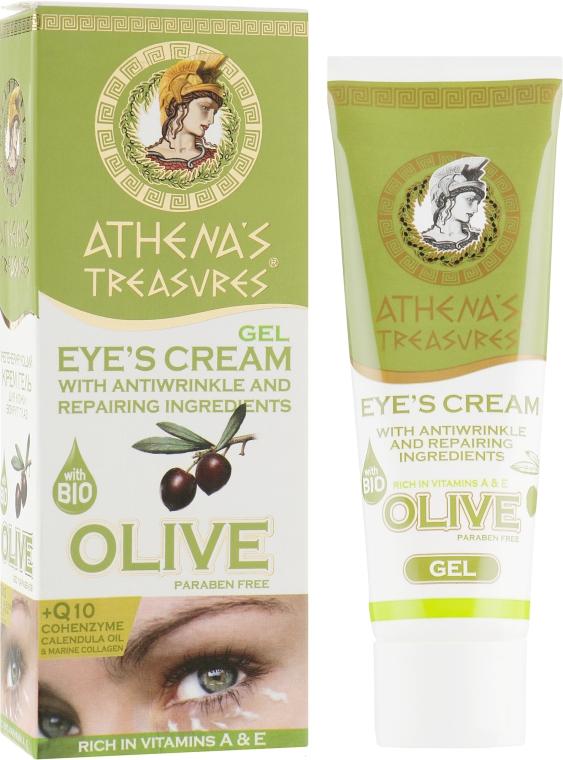 Оливковый регенирирующий крем-гель для кожи вокруг глаз - Athena`s Treasures Olive Anti-Wrinkle Eye Cream Gel