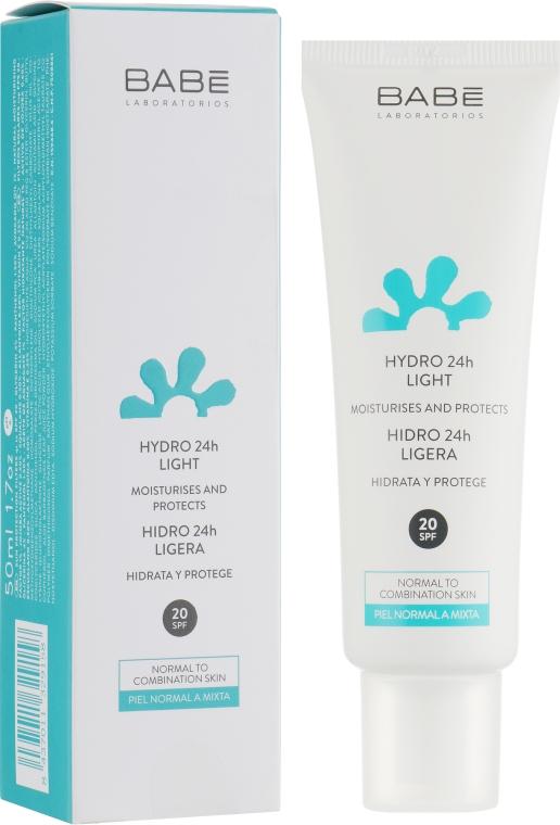 """Легкий крем для лица """"24 часа увлажнения"""" с SPF20 - BABE Laboratorios Hydro 24h Light SPF20"""