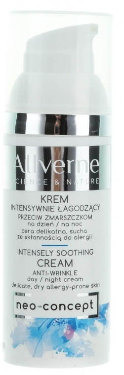 Успокаивающий крем для лица - Allverne Science And Nature Intensely Soothing Cream