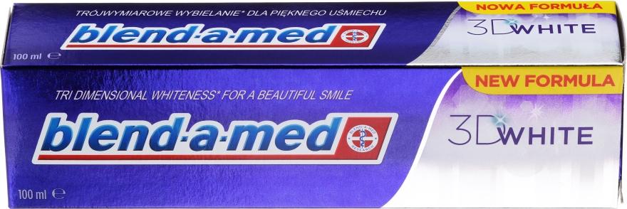 """Зубная паста """"Трехмерное отбеливание"""" - Blend-A-Med 3D White Toothpaste"""