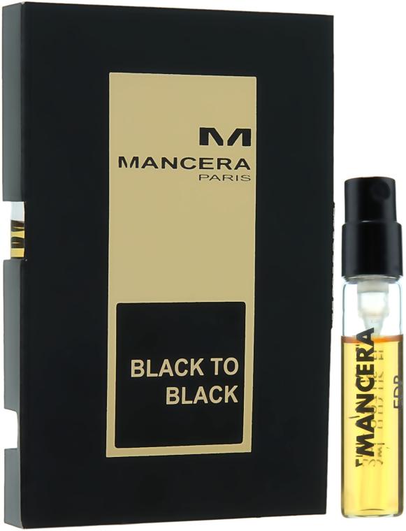 Mancera Black to Black - Парфюмированная вода (пробник)