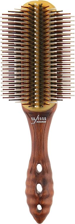 Щетка для создания локонов 13-рядная, 220 мм, коричневая - Y.S.Park Professional Wood Dragon Air Styler