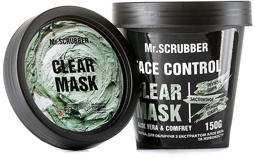 Маска для лица с экстрактом алоэ вера и окопника - Mr.Scrubber Fase Control Clear Mask