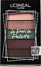 Духи, Парфюмерия, косметика Палетка теней для век - L'Oreal Paris La Petite Palette Feminist Eyeshadow