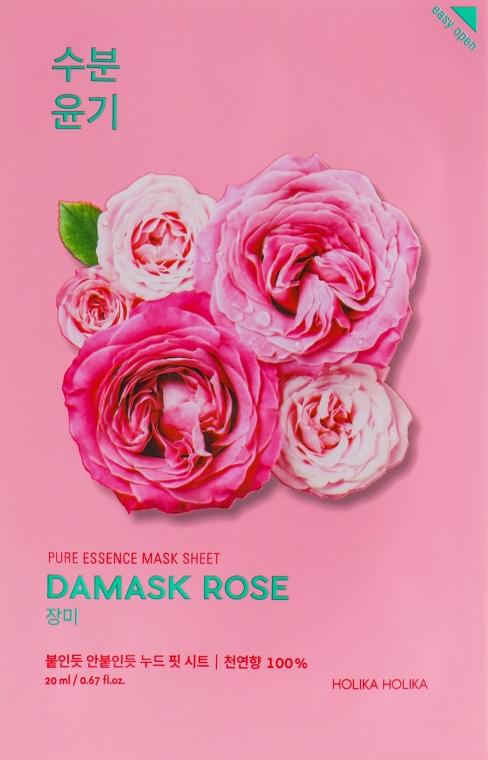 "Тканевая маска ""Дамасская роза"" - Holika Holika Pure Essence Mask Sheet Damask Rose"
