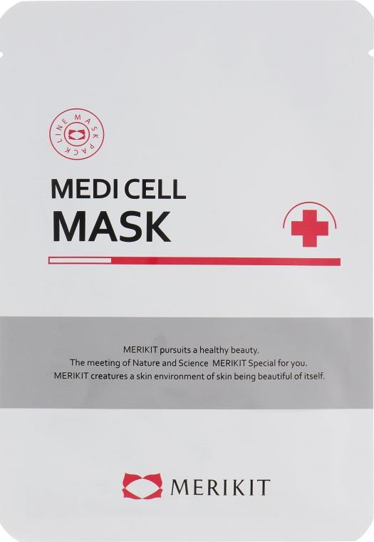 Интенсивная регенерирующая маска из биоцеллюлозы кокоса - Merikit Medi Cell Mask