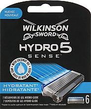 Парфумерія, косметика Набір змінних лез, 6 шт. - Wilkinson Sword Hydro 5 Hydratant