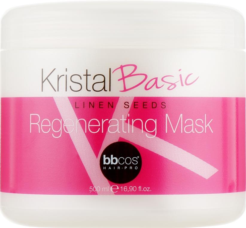 Маска регенерирующая для волос - BBcos Kristal Basic Linen Seeds Regenerating Mask