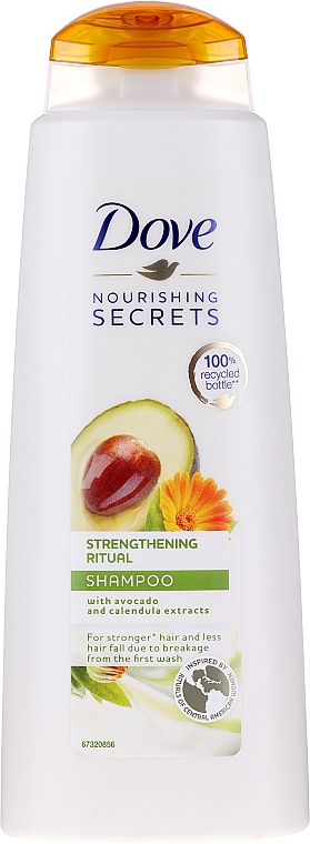 Шампунь для волос с экстрактом авокадо и календулы - Dove Nourishing Secrets Invigorating Ritual Shampoo