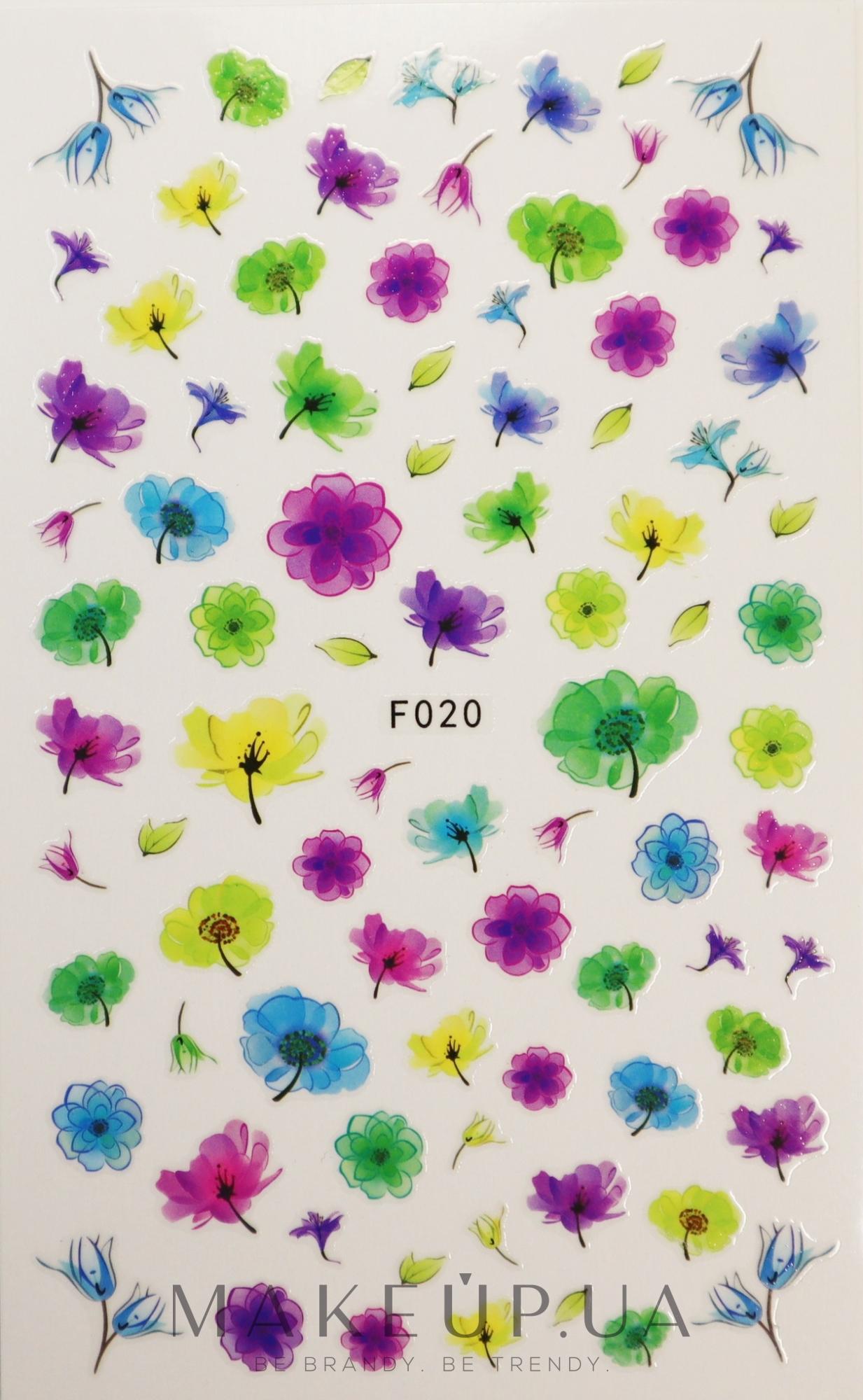 Наклейки для ногтей, F - Vizavi Professional  — фото F-020