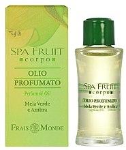 Духи, Парфюмерия, косметика Frais Monde Spa Fruit Green Apple And Amber Perfumed Oil - Парфюмированное масло