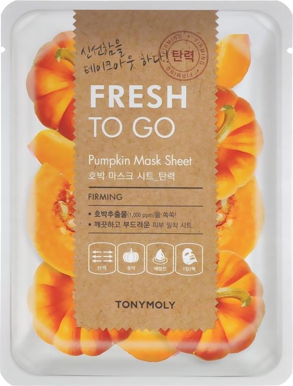 Тканевая маска с экстрактом тыквы - Tony Moly Fresh To Go Mask Sheet Pumpkin