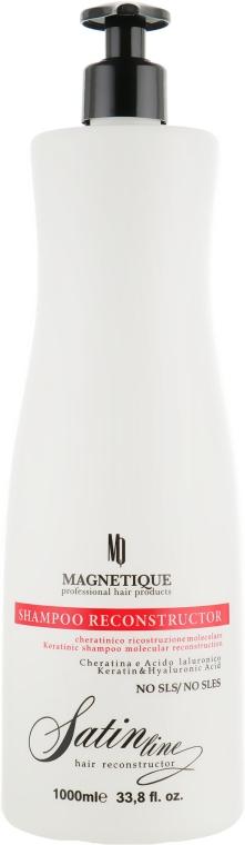Шампунь для реконструкции волос, с гиалуроновой кислотой и кератином - Magnetique Satin Line Reconstructor Shampoo