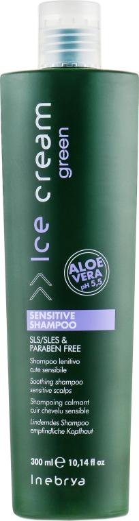 Шампунь для чувствительной кожи головы - Inebrya Green Sensitive Shampoo