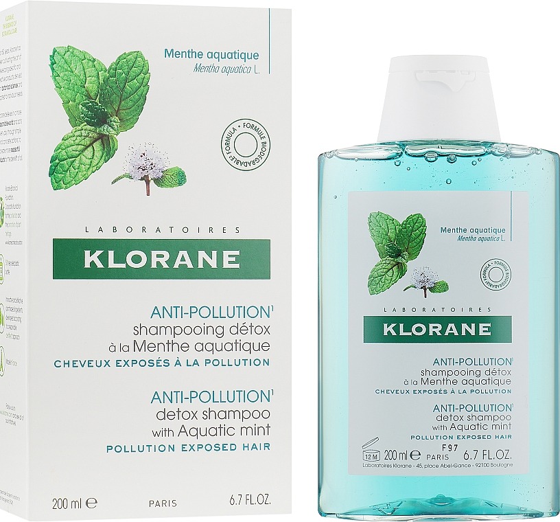 Шампунь-детокс - Klorane Anti-Pollution Detox Shampoo With Aquatic Mint