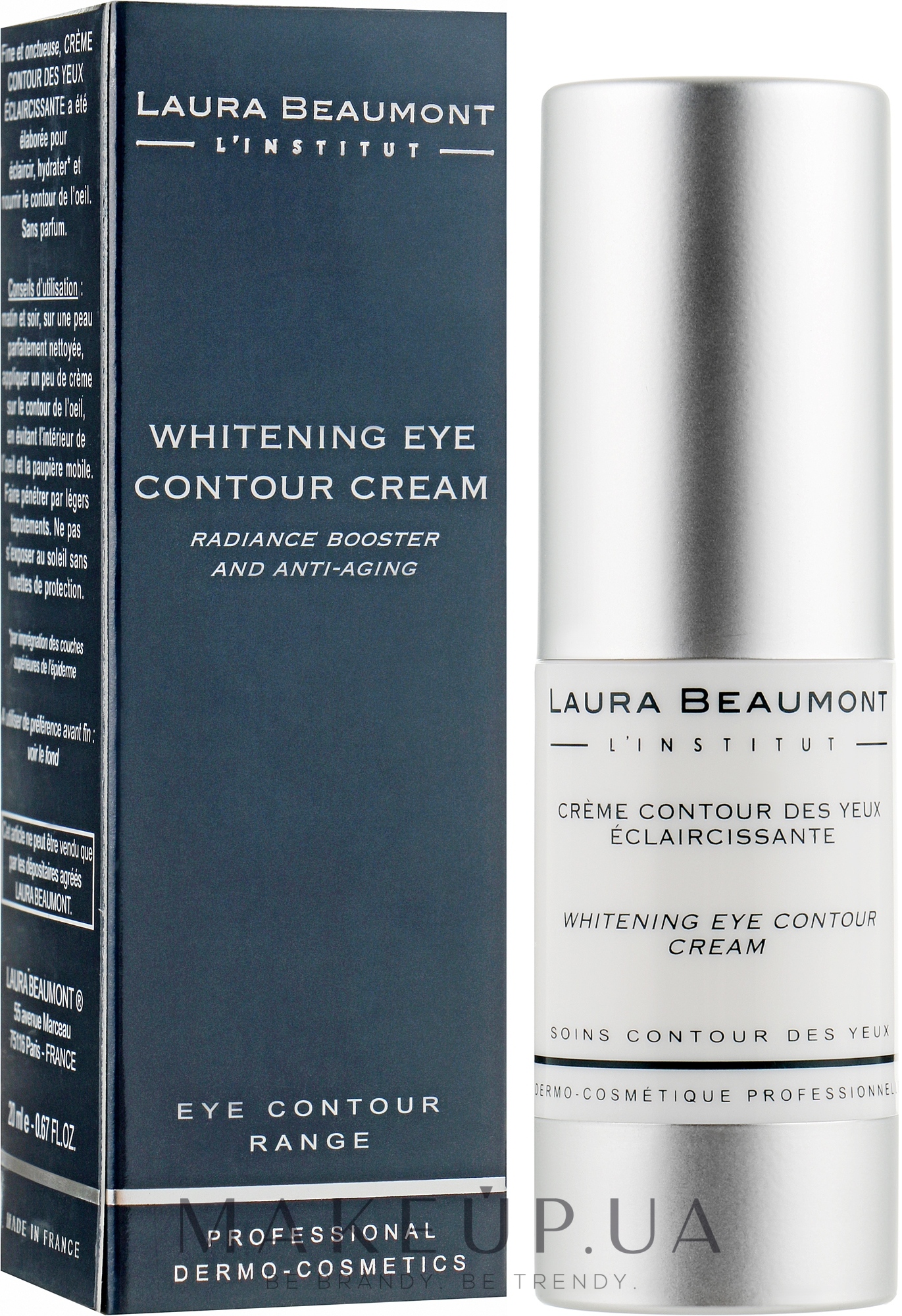 Відбілюючий крем навколо очей - Laura Beaumont Whitening Eye Contour Crem — фото 20ml
