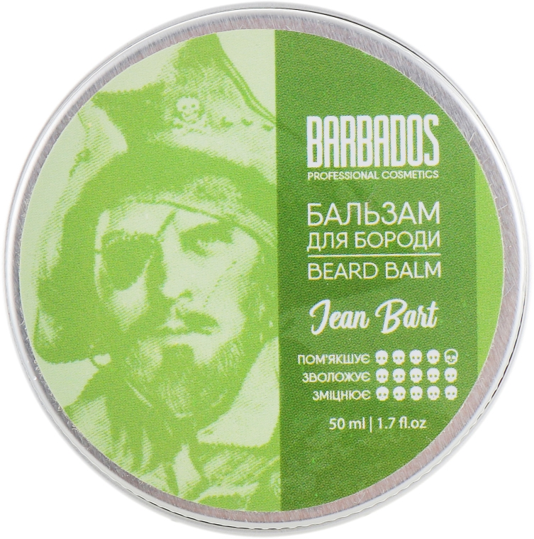 Бальзам для бороды - Barbados Pirates Beard Balm Jean Bart