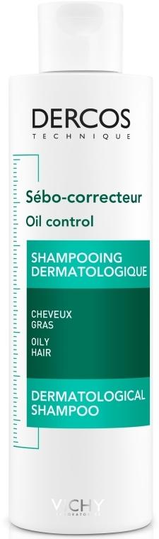 Деркос, себо-регулирующий шампунь-уход для жирных волос - Vichy Dercos Oil Control Treatment Shampoo