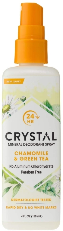 Дезодорант-спрей с ароматом ромашки и зеленого чая - Crystal Essence Deodorant Spray