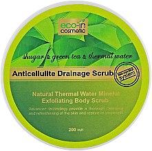 Духи, Парфюмерия, косметика Антицелюлітний скраб з зеленим чаєм - Eco-in Cosmetic Anticellulite Drainage Scrub
