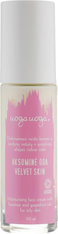 Увлажняющий крем с фундуком и грейпфрутами для жирной и комбинированной кожи - Uoga Uoga Velvet Skin Moisturising Face Cream