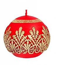 Духи, Парфюмерия, косметика Декоративная свеча, шар, красная, 10 см - Artman Koronka Lace Christmas