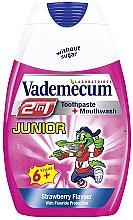 Духи, Парфюмерия, косметика Детская зубная паста 2в1 со вкусом клубники - Vademecum Junior 2in1 Toothpaste + Mouthwash