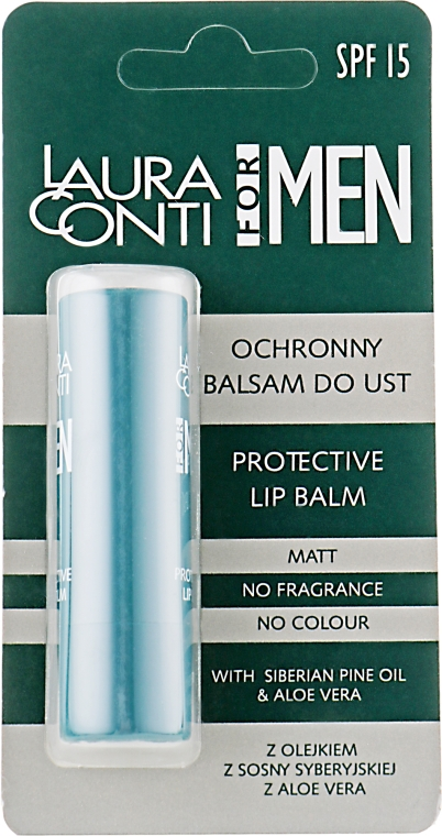 Бальзам для губ, мужской - Laura Conti For Men Protective Lip Balm