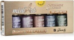 Духи, Парфюмерия, косметика Набор лаков для ногтей - Frenchi Mini Art Smart Metallic №2 (nail/5х5ml)