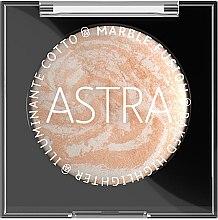 Духи, Парфюмерия, косметика Запеченный хайлайтер - Astra Make-Up Marble Fusion Baked Highlighter