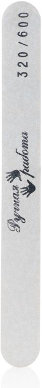 Пилка для ногтей жесткая, белая 320х600 - Ручная работа