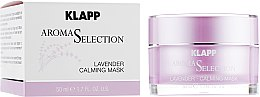 "Крем-маска ""Лаванда Антистресс"" - Klapp Aroma Selection Lavender Calming Mask — фото N1"