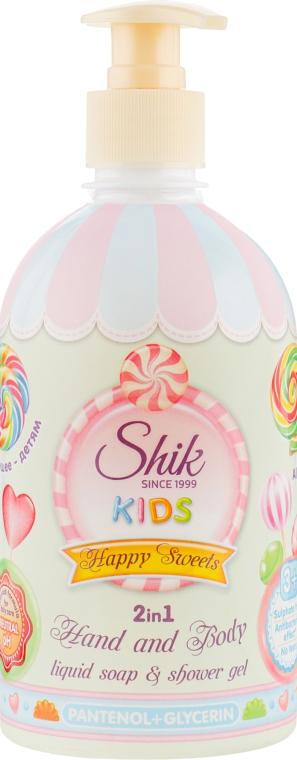 """Детское гель-мыло 2в1 с пантенолом и глицерином """"Веселые сладости"""" - Shik Kids Happy Sweets"""
