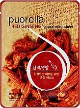 Духи, Парфюмерия, косметика Тканевая маска для лица с женьшенем - Puorella Red Ginseng Mask Sheet