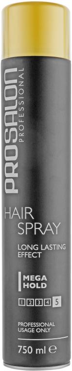 Лак для волос экстрасильной фиксации - Prosalon Hair Spray Mega Hold Long Lasting Effect