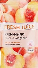 """Духи, Парфюмерия, косметика Крем-мыло с персиковым маслом """"Персик и магнолия"""" - Fresh Juice Peach & Magnolia (сменный блок)"""