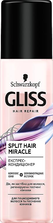 Экспресс-кондиционер для поврежденных волос и секущихся кончиков - Gliss Kur Split Hair Miracle