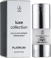 Парфумерія, косметика Нічна сироватка для обличчя - Lambre Luxe Collection Cellular Gold