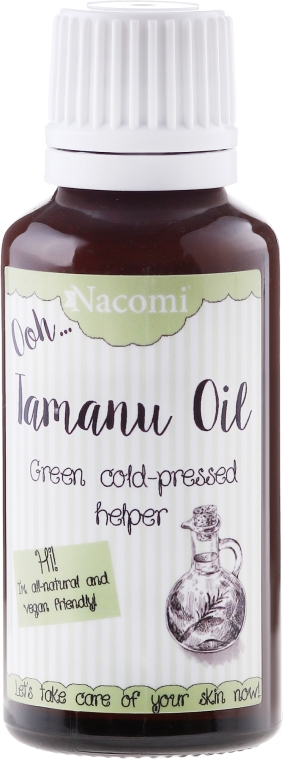 Натуральное масло Таману для лица и тела - Nacomi Olej Tamanu Redukcja Blizn