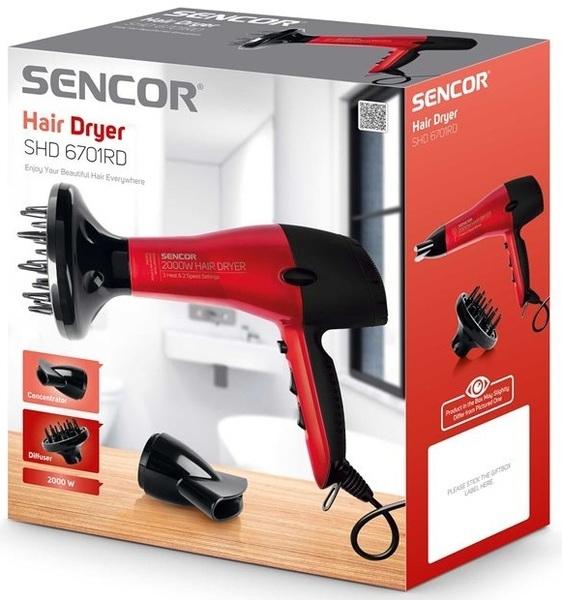 Фен SHD 6701RD - Sencor