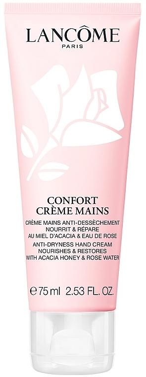 Крем для увлажнения и восстановления кожи рук с экстрактом мёда акации и розовой водой - Lancome Confort