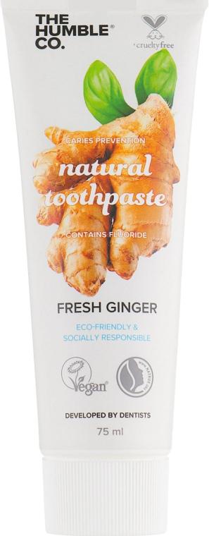 """Натуральная зубная паста """"Антисептическая с имбирем"""" - The Humble Co. Natural Toothpaste Fresh Ginger"""