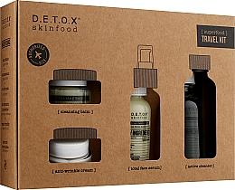 Духи, Парфюмерия, косметика Набор - D.E.T.O.X. Skinfood Travel Kit (gel/60ml + serum/30ml + cr/20ml + balm/20ml)