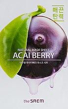 Духи, Парфюмерия, косметика Тканевая маска с экстрактом ягод Асаи - The Saem Natural Acai Berry Mask Sheet