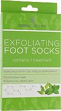 Духи, Парфюмерия, косметика Пилинговые носочки для ног - Skin Academy Exfoliating Foot Mask Tea Tree & Peppermint
