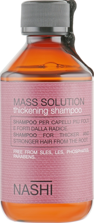 Шампунь для утолщения волос - Nashi Argan Mass Solution