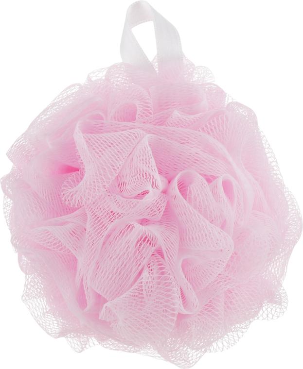 Мочалка синтетическая, средняя, розовая - Balmy Naturel Bath Pouf Medium